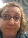 This is what tired looks like at 4:30 am in the Portland Airport.