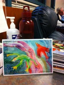 Art to the rescue! Even a small print brightens the chemo room. By Jeanine Semon jeaninesdream.com.